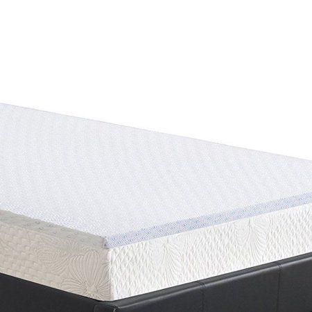 mattress pad walmart. granrest 2 inch cool gel air flow memory foam mattress pad, bed topper, king pad walmart d