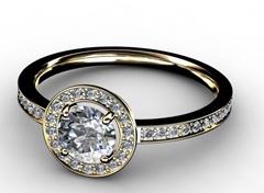 Diamant Verlobungsring Nura, 750er Gelbgold 18 Karat