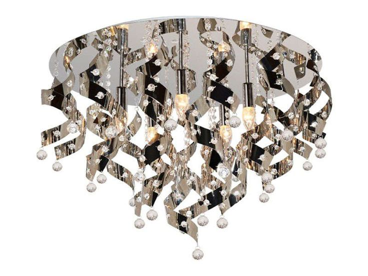 Lustre 5 lampes LOUIS chrome - Vente de Lustre et Suspension - Conforama