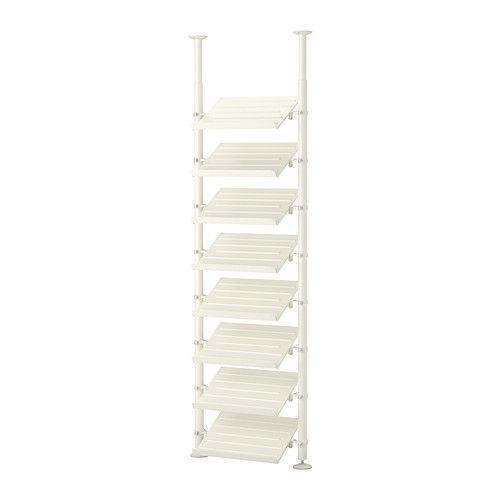 IKEA - STOLMEN, 1 element, , In hoogte verstelbaar van 210-330 cm, waardoor de gehele plafondhoogte benut kan worden.Kan worden gemonteerd in plafond of wand.