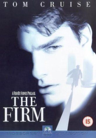 Tom Cruise, Jeanne Tripplehorn, Gene Hackman. Director: Sydney Pollack. IMDB: 6.7 * ___________________________ http://en.wikipedia.org/wiki/The_Firm_(1993_film) http://www.rottentomatoes.com/m/1044522-firm/ http://www.metacritic.com/movie/the-firm http://www.tcm.com/tcmdb/title/74979/Firm-The/ http://www.allmovie.com/movie/the-firm-v17445 http://www.rogerebert.com/reviews/the-firm-1993