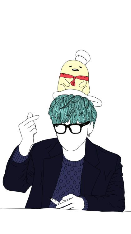 Min Yoongi Simple Lineart