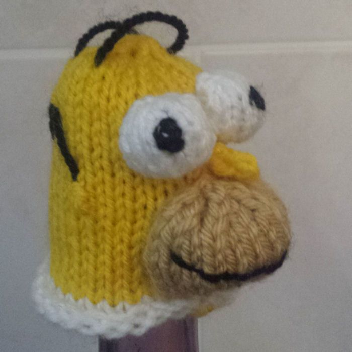 Innocent Smoothies Big Knit Hat Patterns Homer Simpson