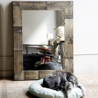 Reclaimed Wood Mirror - eclectic - mirrors - by canvas