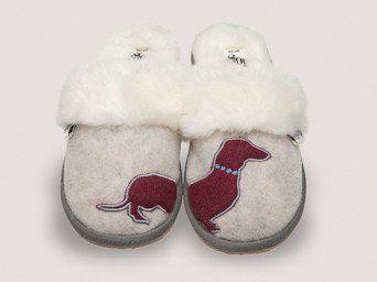 Missy Women's Dachshund Grey Mule Slippers – Dedicated 2 Dachshunds