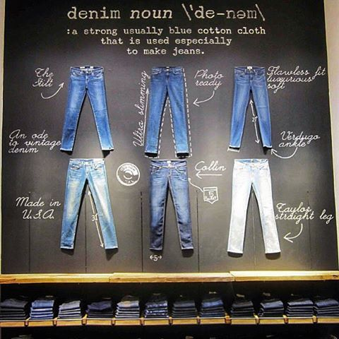 "SAKS FIFTH AVENUE, Phoenix,Arizona, ""Women's Contemporary Denim Display"", pinned by Ton van der Veer"