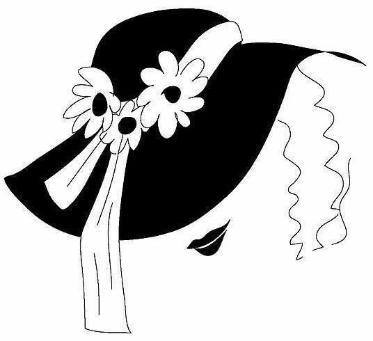 Оригинал схемы вышивки «Шляпа с цветами»