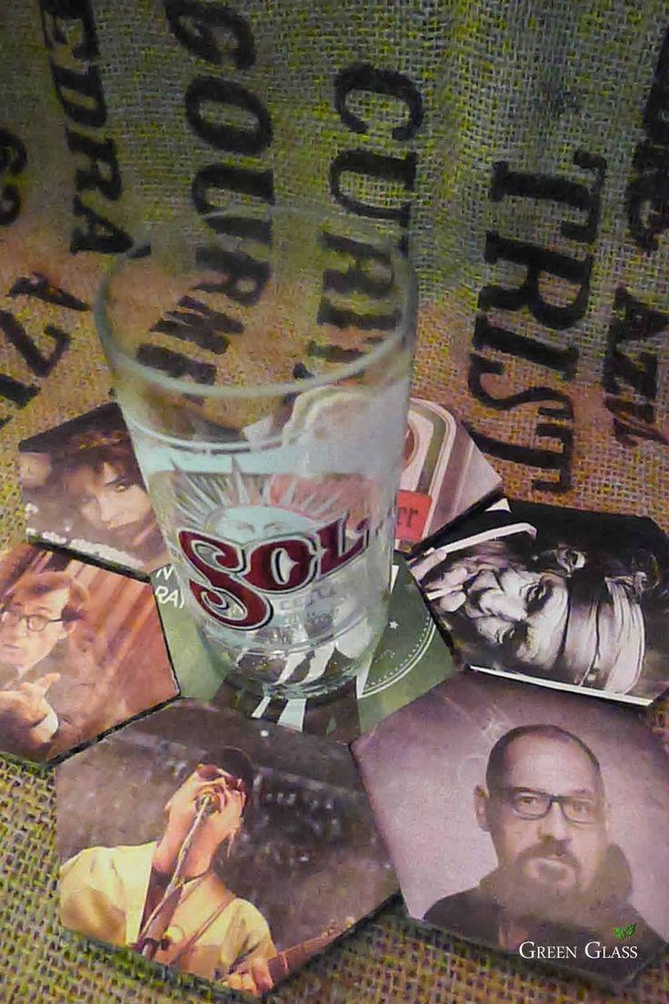 Vaso de la botella cerveza SOL