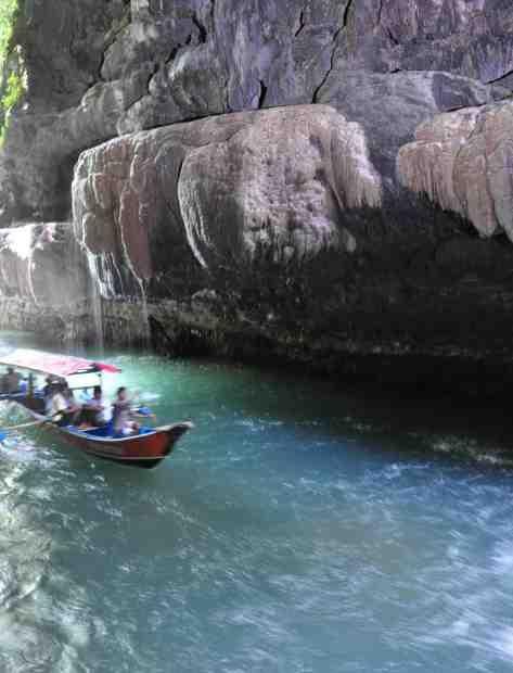 Cukang Taneuh river (green canyon), Ciamis Indonesia