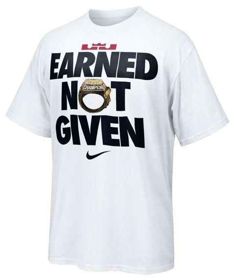 "LeBron James ""Earned Not Given"" T-Shirt"