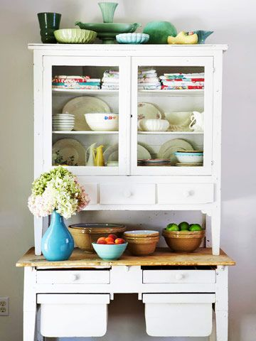 Antique: Dining Room, Kitchen Hutch, Idea, Dream, Country Decor, French Country, Vintage Kitchen