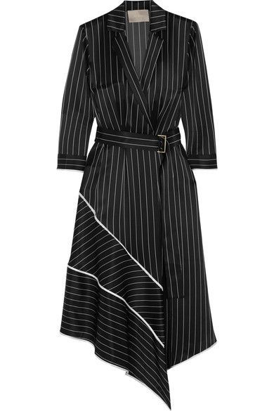 GABRIELLE'S AMAZING FANTASY CLOSET | Jason Wu's Menswear Stripe Silk Charmeuse dress (Alternate Front Image) You can see all of the Images of this Dress and the rest of the Outfit and my Remarks on this board. - Gabrielle