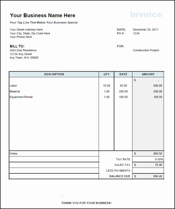 Contractor Invoice Template Word Awesome Contractor Invoice Template Invoice Template Invoice Template Word Invoice Sample