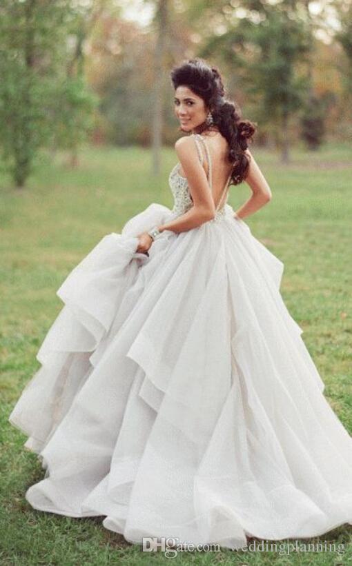 #Sexy Свадебные Платья# Без Бретелек С Вуалью Лес Спинки Сексуальная Свадебные Платья Без Рукавов Женщин