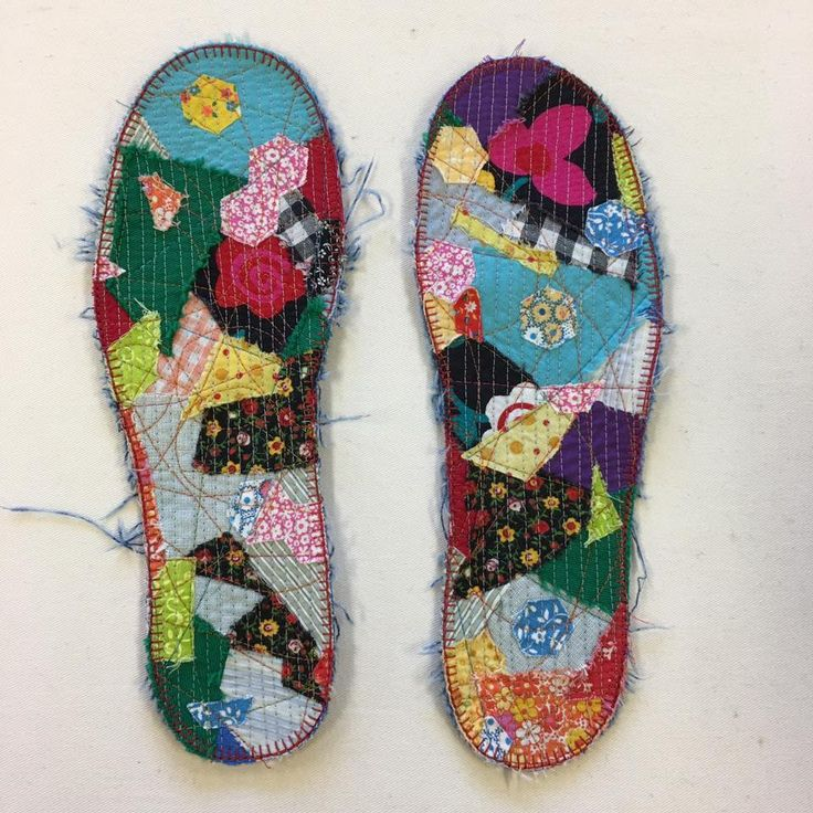 Diy Insoles Denim layer, knit layer and then pieced