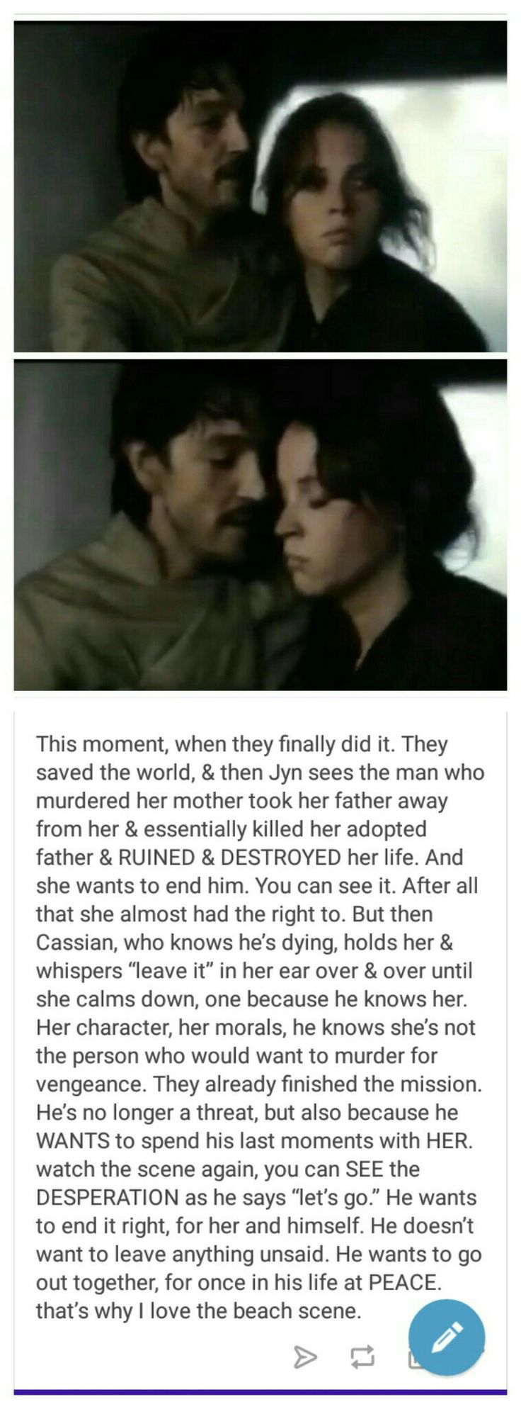 Why Cassian and Jyn are perfect for each other