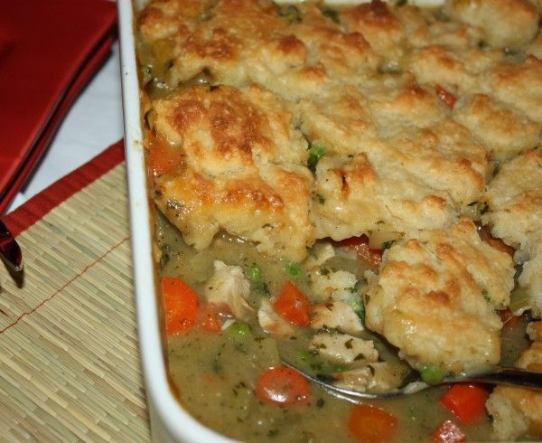 Chicken Pot Pie with Biscuit Topping | Food & Drinks | Pinterest