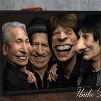 Hiasan Dinding Poster Lucu Rolling Stones, Ukuran A4 #rollingstones #funnyposter #unikedekor #walldecorations #hiasandinding