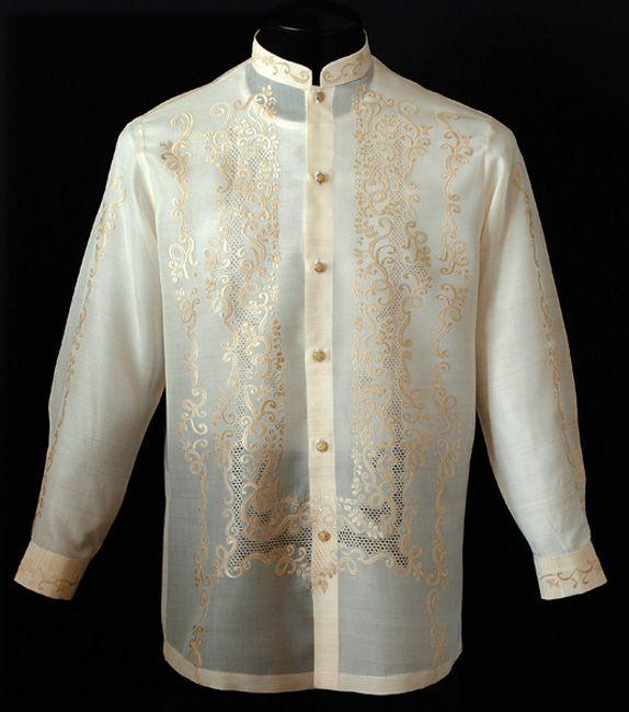 26 best barong tagalog images on pinterest barong for Barong tagalog wedding dress