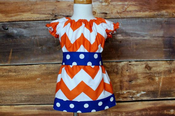 Orange Chevron Peasant Dress Newborn to by DoodlebugsDrumsticks