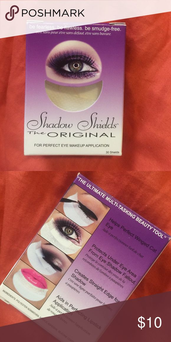Shadow shields Brand new. In box. Really cool to use for eye makeup Makeup Eyeshadow