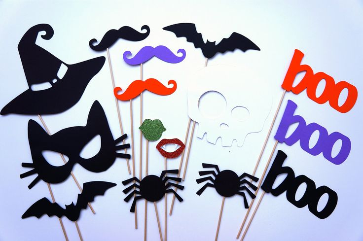 Photo Booth Props - Halloween Party Props - 15 piece set - GLITTER  Photobooth Props Party. $35.00, via Etsy.