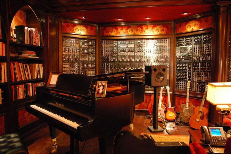 This private recording studio belongs to one of the most famous film score composers of our days. Can you guess the composer?