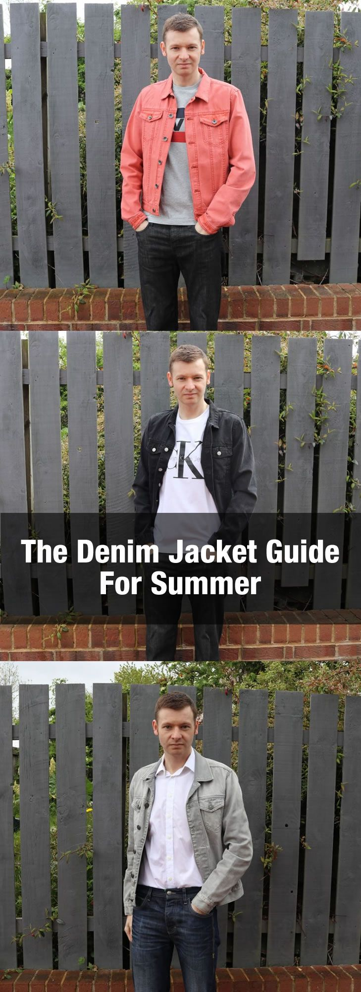 The Men's Denim Jacket Guide - Style Tips And What To Wear With A Jean Jacket. http://www.99wtf.net/trends/jackets-urban-fashion-men/