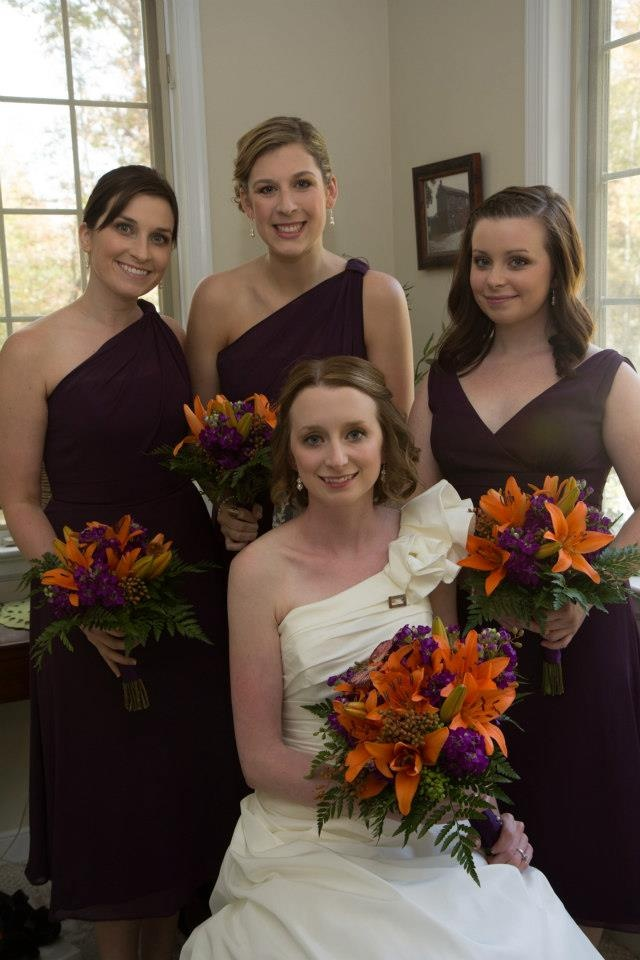 Plum wedding at Serenity Cove.    Look Roxanne I LOVE how plum and orange look together but JUST a suggestion! ;)