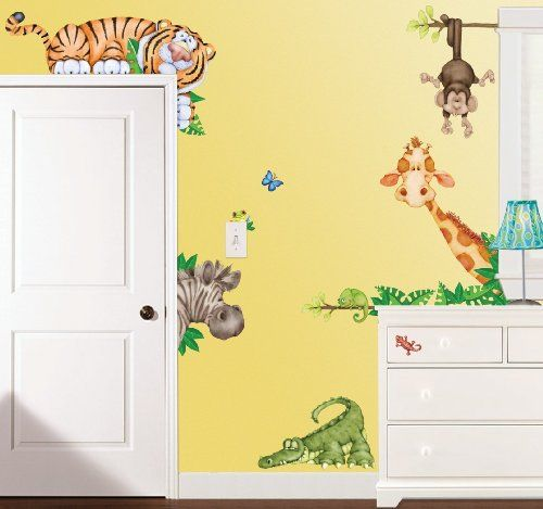 In The Jungle Large Wall Decals / Stickers Borders Unlimited,http://www.amazon.com/dp/B004YKDCMA/ref=cm_sw_r_pi_dp_T4D1sb0WYRGEA08R