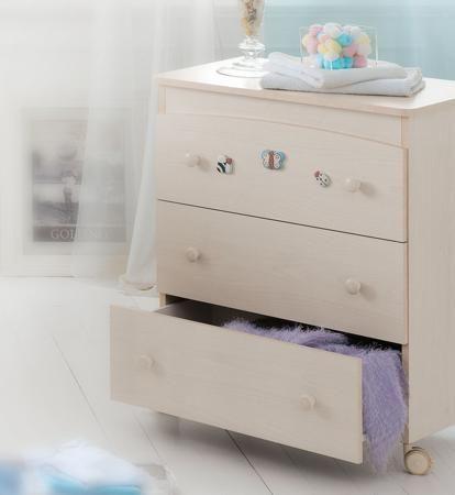 Baby Expert Пеленальный комод Ceramics Perla беленый  — 40510р.  Пеленальный комод  Perla выбеленный
