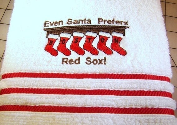 Red Sox Towel: Holidays Towels, Boston Red, Bath Hands, Towels Embroidered, Sox Fans, Sox Towels, Hands Towels, Red Sox Christmas, Hand Towels