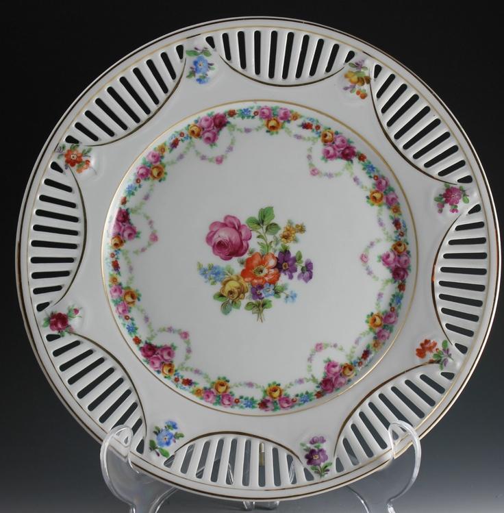 Schumann bavaria dresden flowers reticulated porcelain Beautiful plates