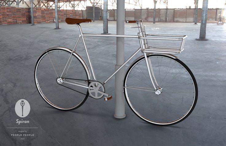 Spiran bike by People People. Great basket/integrated locking mechanism.
