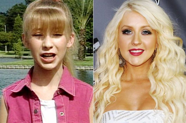 Disney Kids Then and Now Christina Aguilera.  Wow what a transformation!