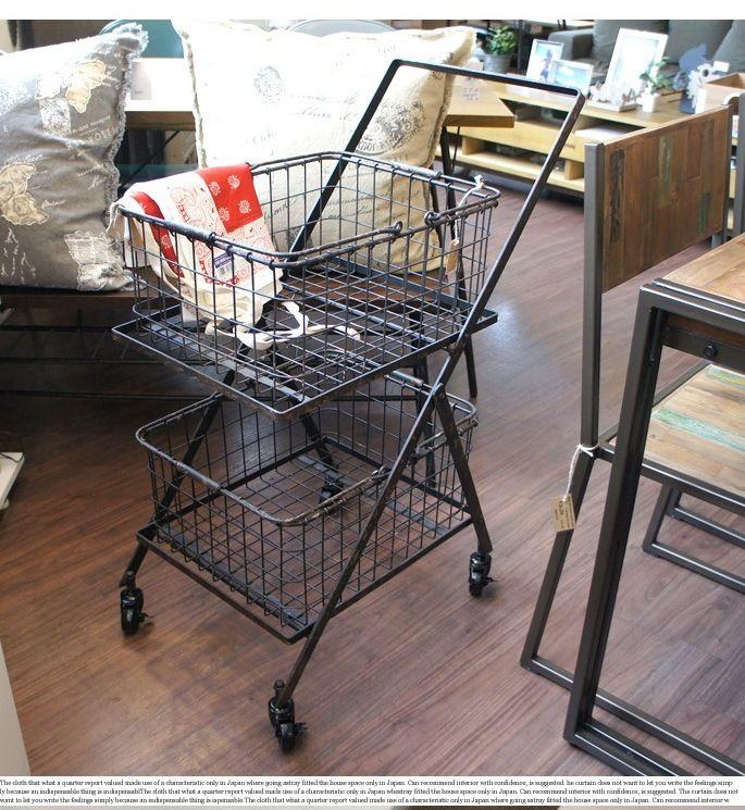 【楽天市場】Dual basket cart(デュアルバスケットカート) S255-43 DULTON(ダルトン)送料無料:家具・インテリア・雑貨 ビカーサ