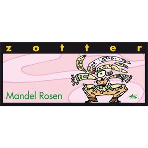 Die Liebesschokolade schlechthin. In einer dunklen Bergmilchschokolade flirtet Rosenmarzipan mit selbst gemachtem Mandelnougat. Sinnlich & schmelzend mit einem Rosenblüten-Bouquet. Eine Schokolade, die die Sinne verzaubert. <b>Handgeschöpfte Schokolade<br />70 g Tafel<br />Haltbarkeit: 5 Monate ab Produktion</b>