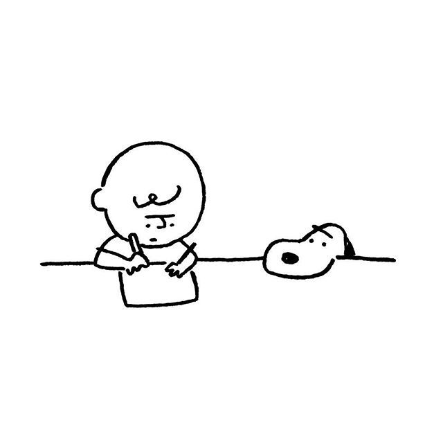 Charlie Brown & Snoopy. #charliebrown #snoopy #yunagaba #kaerusensei #長場雄 #art