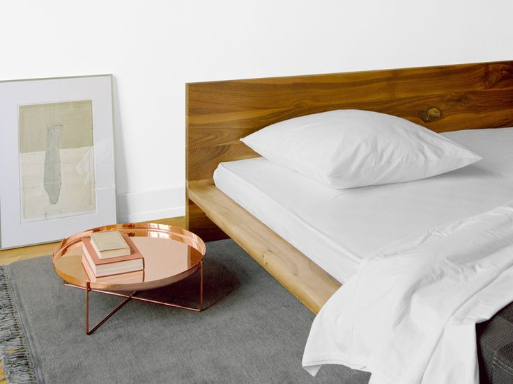 Download the catalogue and request prices of Mo By e15, wooden double bed design Philipp Mainzer