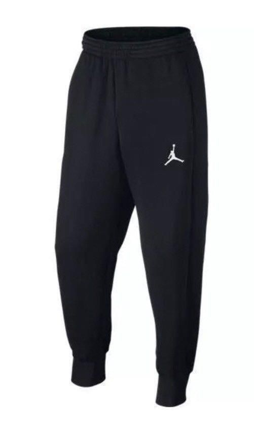 Nike Men s Air Jordan Jumpman Flight Fleece Black Sweatpants L AA5591-010   Nike  Pants 78970e8c67fd