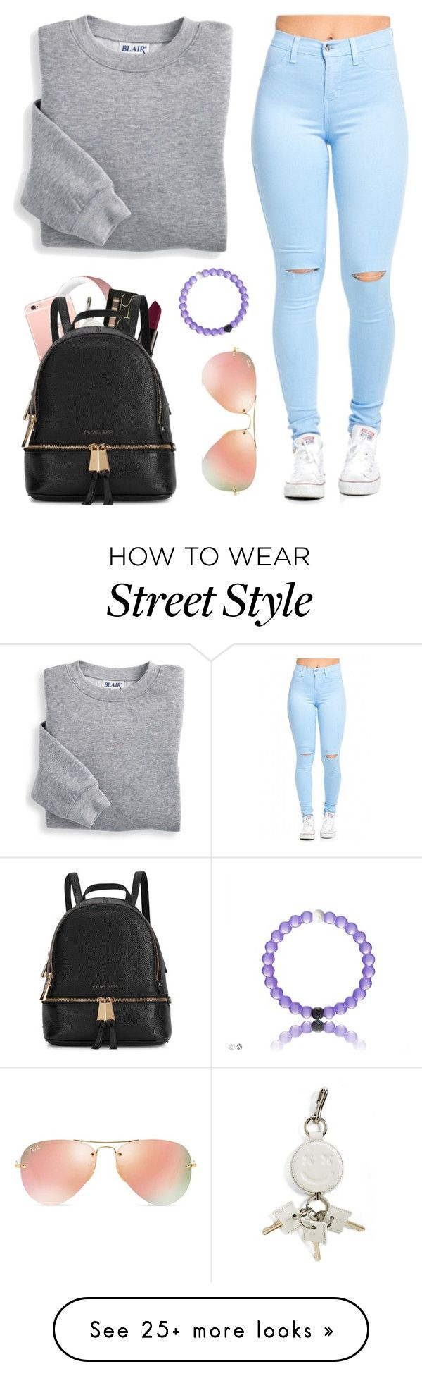 My style ✌️ by ducky-momo-fangirl on Polyvore featuring moda, Smashbox, Blair, Alexander Wang, Ray-Ban y Michael Kors ✌ ▄▄▄Find more here: Click sunglass.emocione... ✌▄▄▄Ray Ban Sunglasses! More than 80% off!