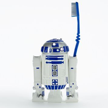 transform his bathroom into an wonderland with the help of this star wars toothbrush holder