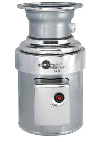 insinkerator ss 75 27 standard capacity commercial waste disposer rh pinterest com