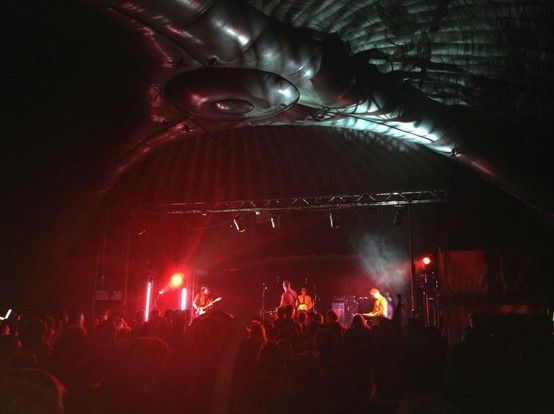 The perfect solution for a #sound stage / #dance stage at your next  #Music #Festival 24m #Dome  #Inflatable #Temporary #Structure #Events http://www.brandinteractivation.com/