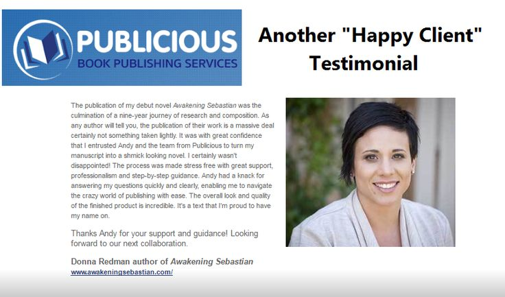 "Another  ""Happy Client "" Testimonials http://www.publicious.com.au/testimonials.html"