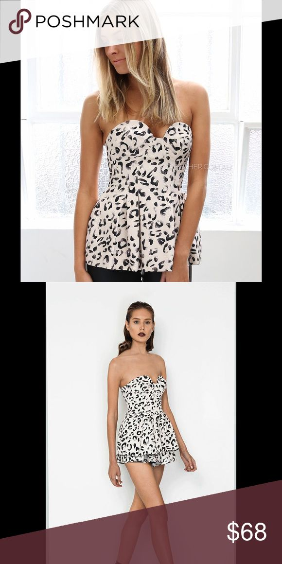Keepsake Leopard Print Heart on Fire Bodice Nwt, labeled M but runs small. As seen on Esther.com. No trades, no pp. Tags: Asos, Nasty Gal, Finders Keepers, Bebe. keepsake Tops