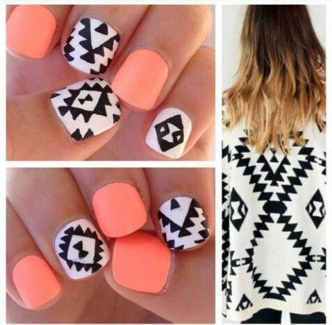 #orange #nails