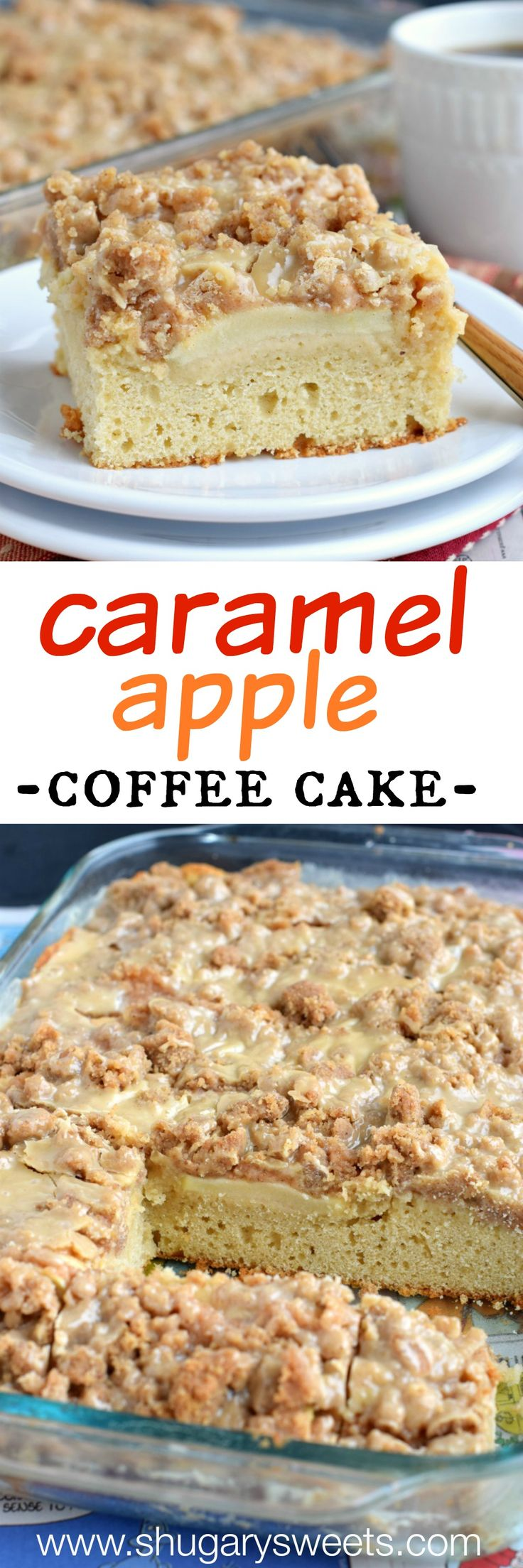 This Apple Coffee cake recipe is perfect for a weekday breakfast and a cup of hot coffee! Also makes a nice addition to your brunch menu!