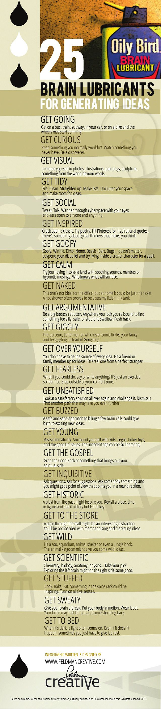 These 25 brain lubricants can help you coax your mind into generating creative…