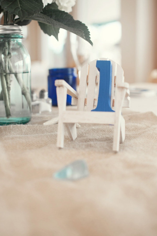Beach chair table numbers. Yes. Photography by kandkphotography.com